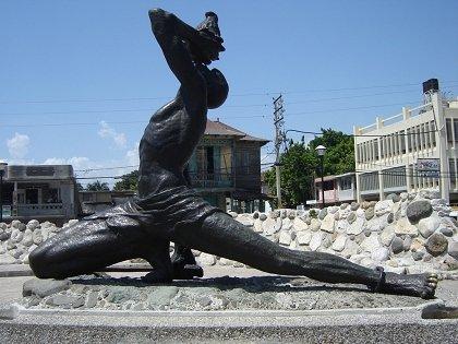 black maroon monument